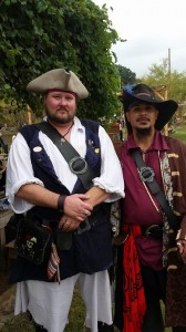 photo donated by Sandy, who is far too good for the pirate scum pictured on the right (her husband)